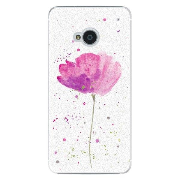 iSaprio Plastové pouzdro iSaprio - Poppies - HTC One M7