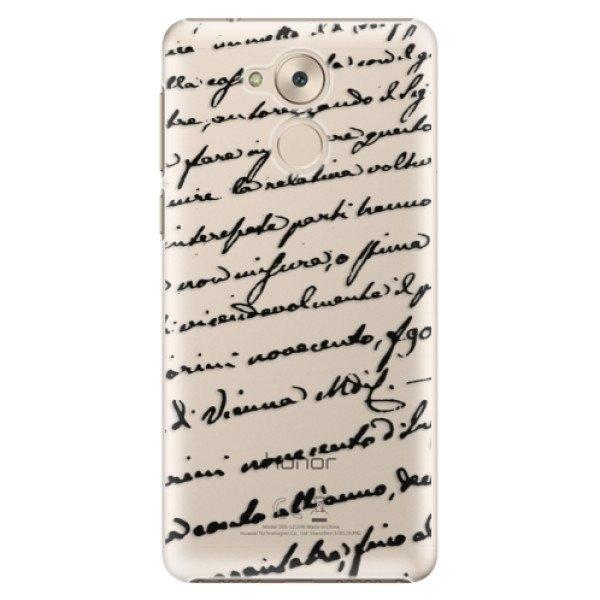 iSaprio Plastové pouzdro iSaprio - Handwriting 01 - black - Huawei Nova Smart