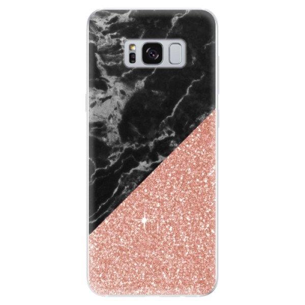 iSaprio Odolné silikonové pouzdro iSaprio - Rose and Black Marble - Samsung Galaxy S8
