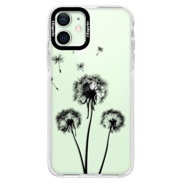 iSaprio Silikonové pouzdro Bumper iSaprio - Three Dandelions - black - iPhone 12 mini